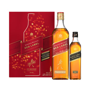 Johnnie Walker Red Label 40% 0.70L poklon pakovanje + JW Black 0.2l