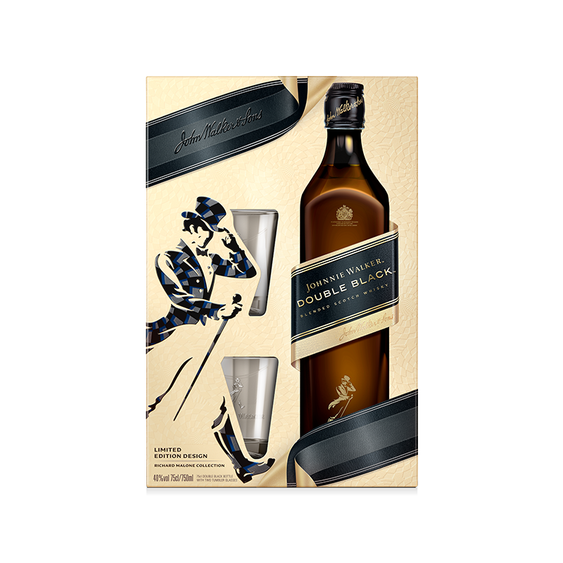 Johnnie Walker Double Black Label 40% 0.70L poklon pakovanje sa 2 čaše