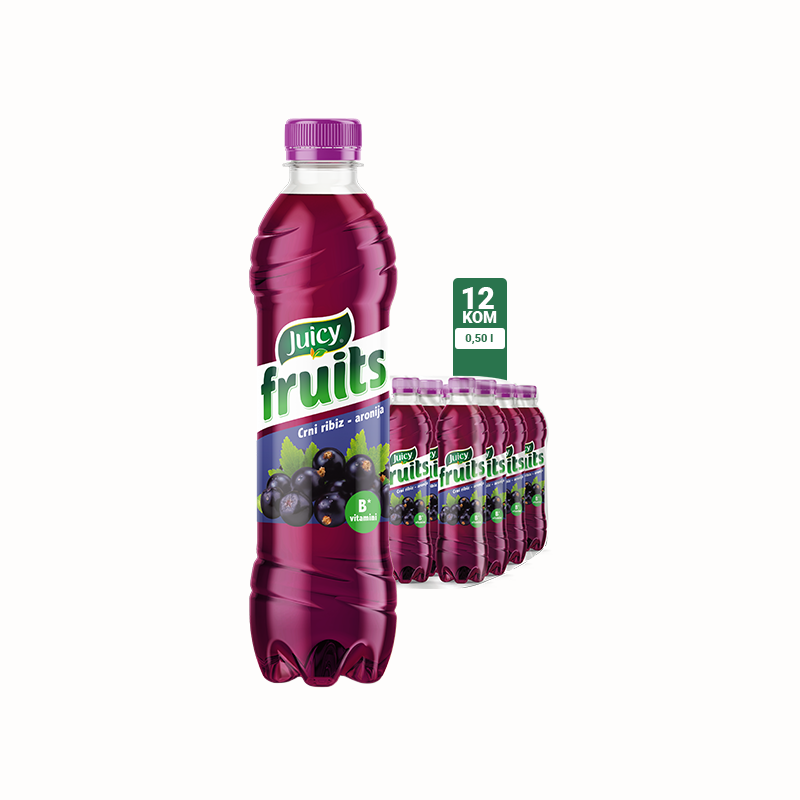 Juicy Fruits Crni ribiz-aronia 0.5 1\12