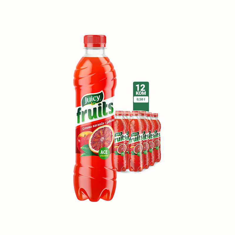 Juicy Fruits Crvena naranča 0.5l 1\12