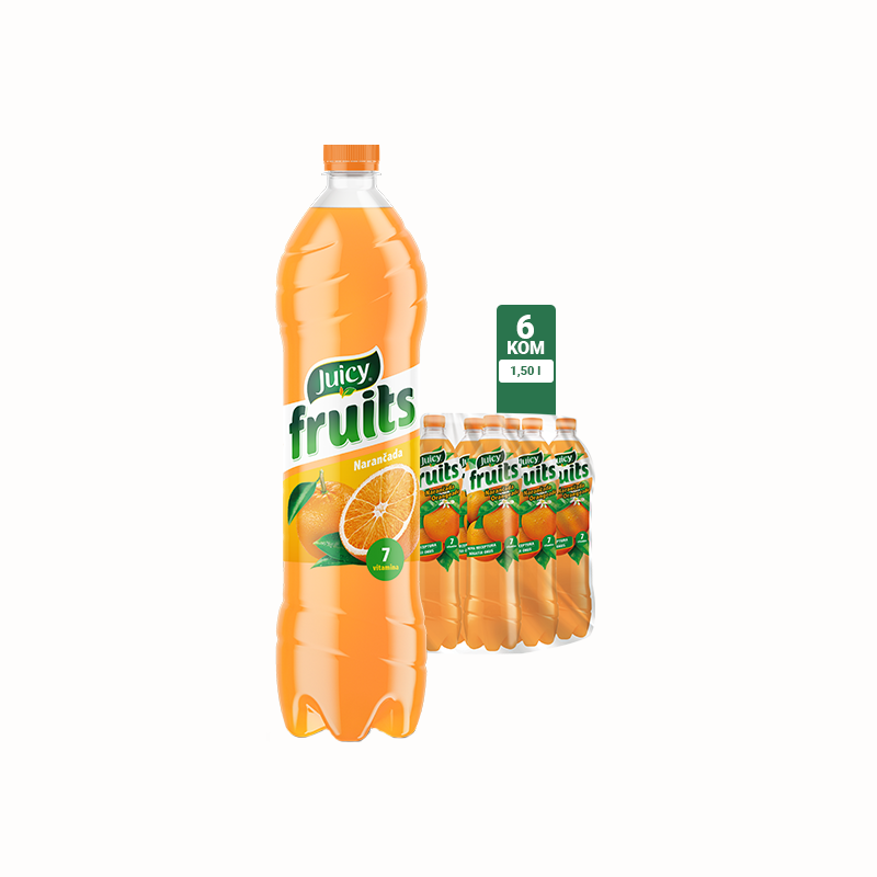 Juicy Fruits Narančada 1.5l 1\6