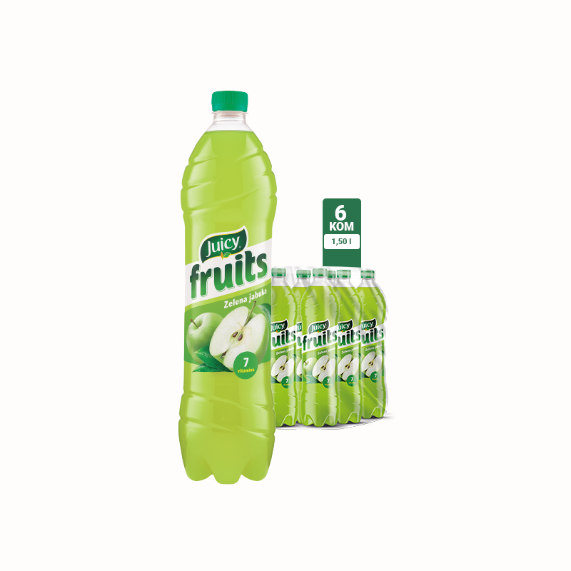 Juicy Fruits Zelena jabuka 1.5l 1\6