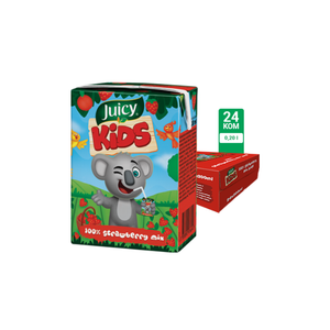 Juicy Kids jagoda 100% 0.2L 24/1