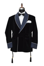 Load image into Gallery viewer, Men Black Smoking Jacket Designer Party Wear Coats