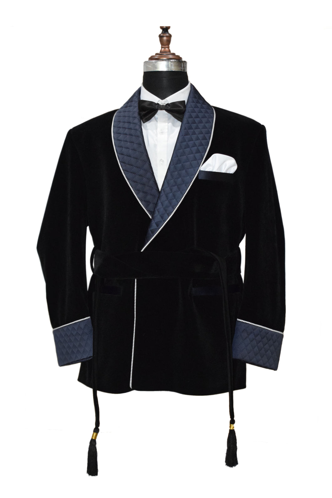 Men Black Smoking Jacket Designer Party Wear Coats