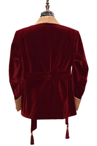 Men Maroon Smoking Jacket Dinner Party Wear Coats - TrendsfashionIN