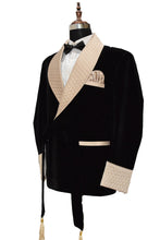 Load image into Gallery viewer, Men Black Smoking Jacket Dinner Party Wear Coat - TrendsfashionIN