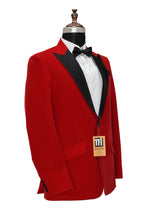 Load image into Gallery viewer, Men Red Smoking Jackets Dinner Party Wear Coats