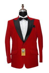 Men Red Smoking Jackets Dinner Party Wear Coats