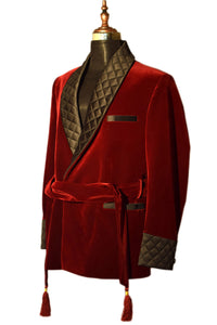 Men Maroon Smoking Jackets Dinner Party Wear Coats - TrendsfashionIN