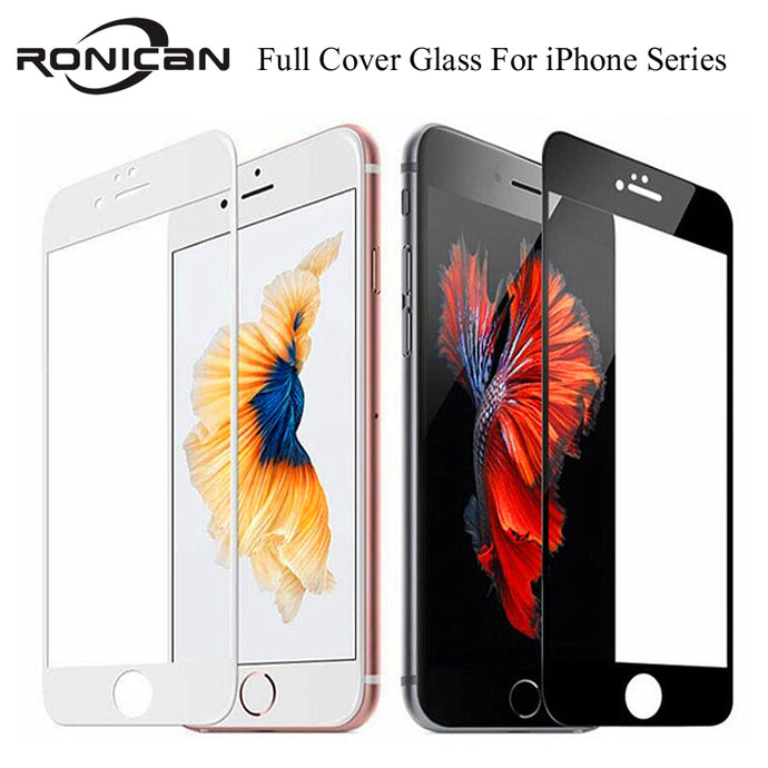 9H Full Coverage Cover Tempered Glass For iPhone - TrendsfashionIN