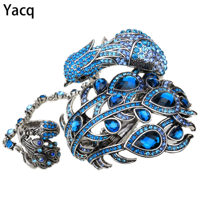 Peacock Bangle Bracelet Women Jewelry - TrendsfashionIN