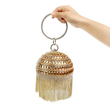 Load image into Gallery viewer, Golden Diamond Tassel Women Clutches Bags - TrendsfashionIN