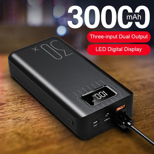 30000mAh Fast Charging Power bank For iPhone LED - TrendsfashionIN