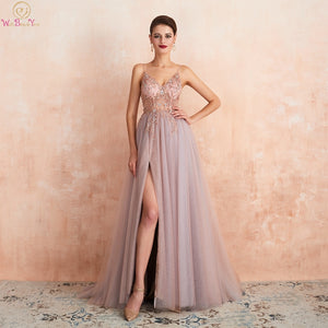 Women Pink Beaded Prom Dresses 2020 - TrendsfashionIN