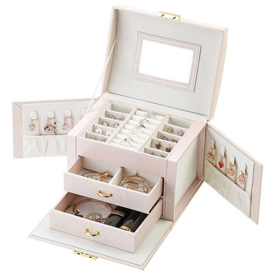 Mirrored Large Capacity Jewelry Box - TrendsfashionIN