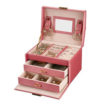 Load image into Gallery viewer, Mirrored Large Capacity Jewelry Box - TrendsfashionIN