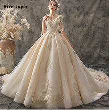 Load image into Gallery viewer, Women V-neck Ball Gown Wedding Dress - TrendsfashionIN