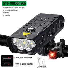 Load image into Gallery viewer, 10000mAh Bike Light USB Rechargeable 3000 Lumens Bike Headlight