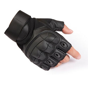Touch Screen Hard Knuckle Tactical Gloves PU Leather