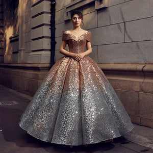 Women Ball Gowns V-Neck Sweet 16 Dress 2020 - TrendsfashionIN