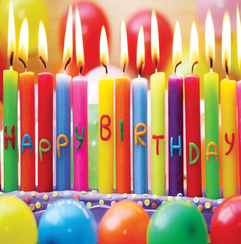 Birthday Card Candles - S165