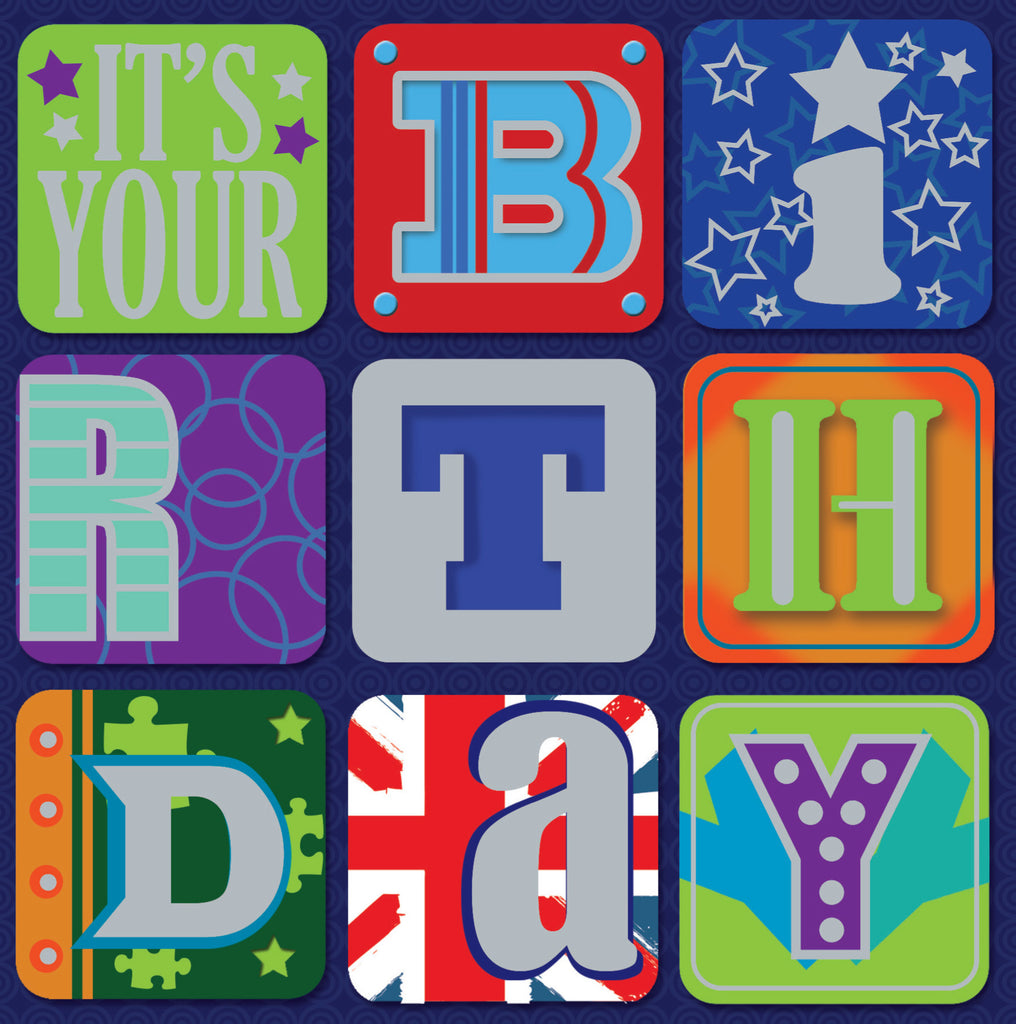 Birthday Card  Letters - S164