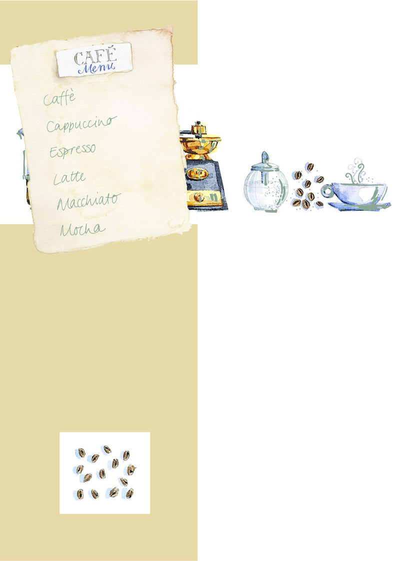 Blank Card with attachment - Cafe - 4PC01