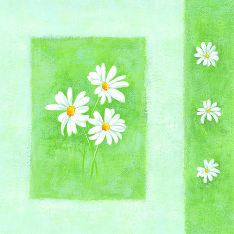 Blank Card - White flowers - 4L19