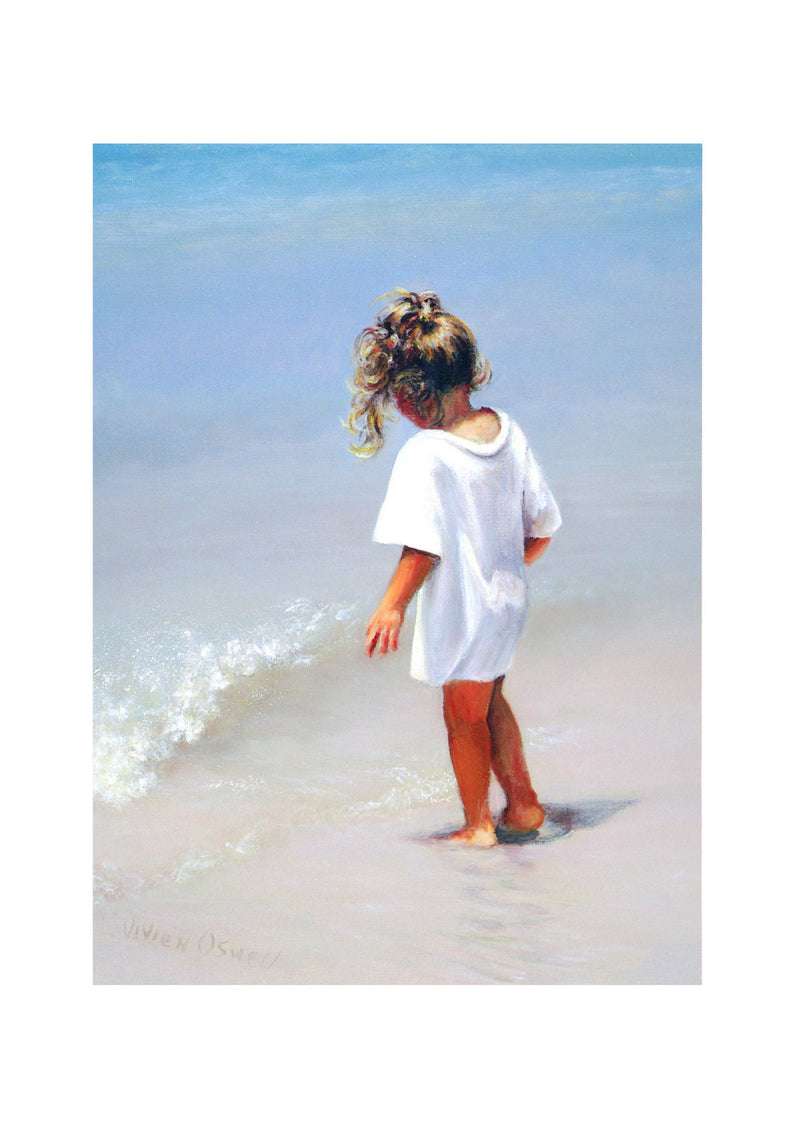 Blank Card - Child by the sea - 4L20