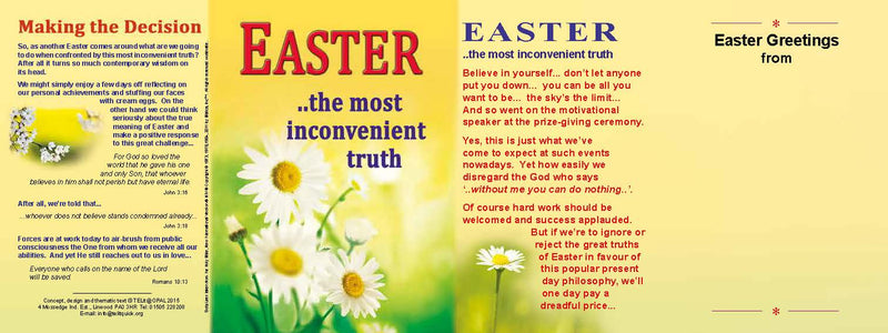 TELIT - Easter Most Inconvenient truth