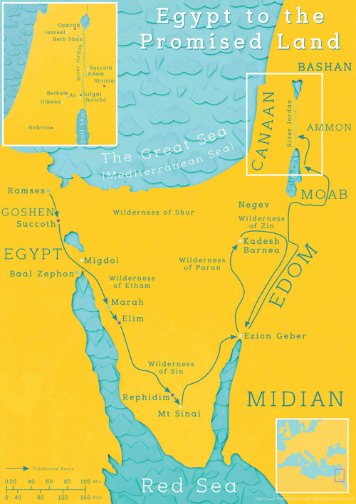 Map Egypt Promised land