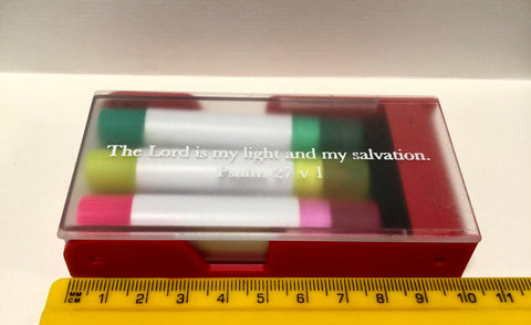 3 x Wax Crayon Bible Highlighters boxed (VM7)