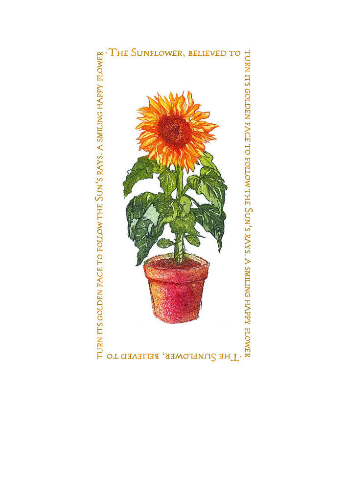 Birthday Card - Sunflower - L75A02
