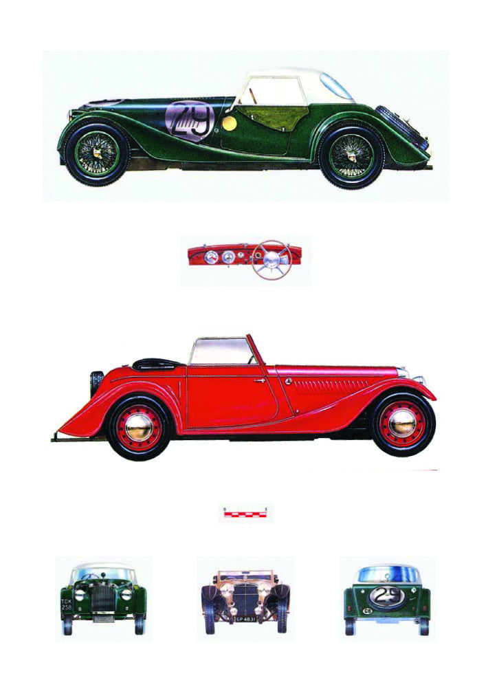 Birthday Card Vintage Cars L75j02 Day One Publications