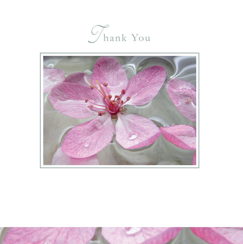 Thank You Card - Pink Flower - S122