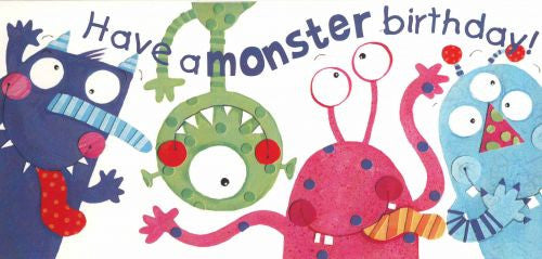 Monster Birthday card greeting card by StiKtoonz Greetings cards ...