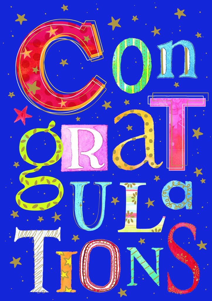 Congratulations Card with 3-D effect - Congratulations - S131