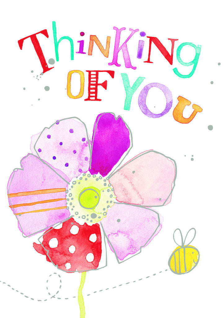 Thinking of You Card - Flower & Bee: S139