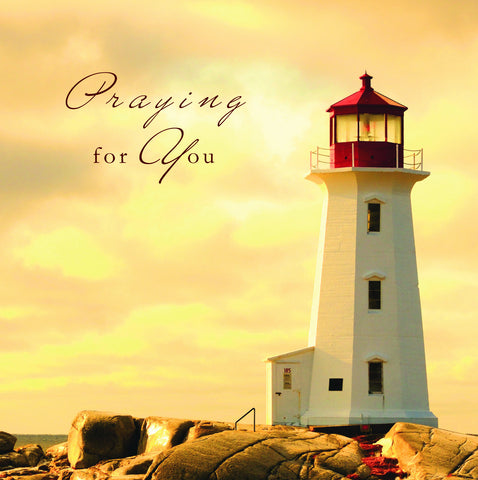 Praying for You Card - Lighthouse - S142