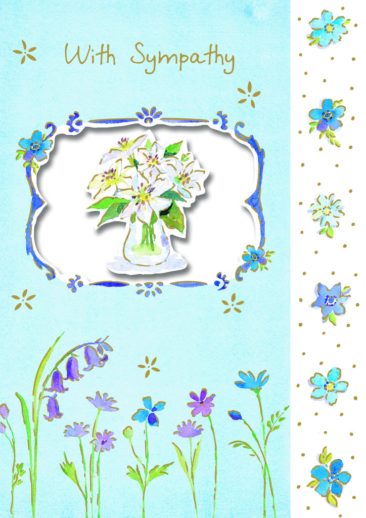 Sympathy Card - Die cut Flower - S145