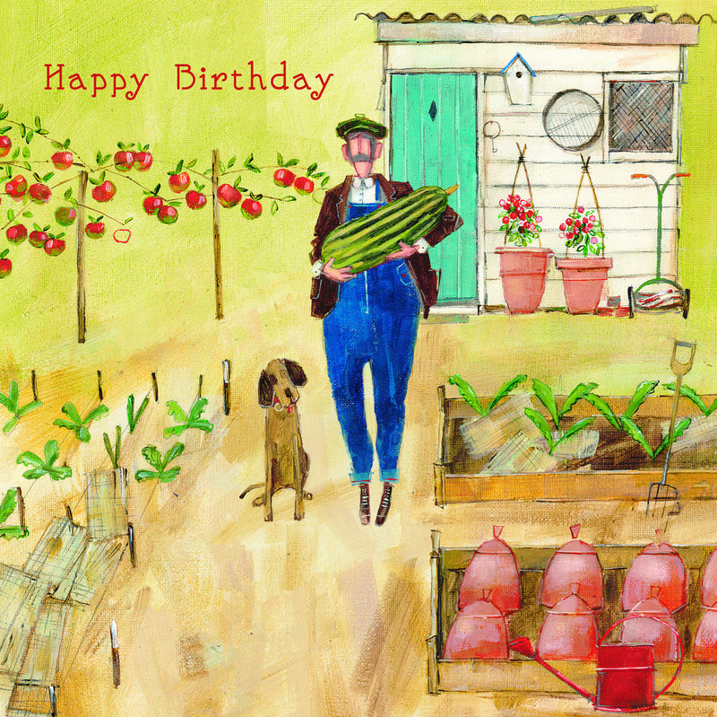 Birthday Card - Busy in the Garden - S154
