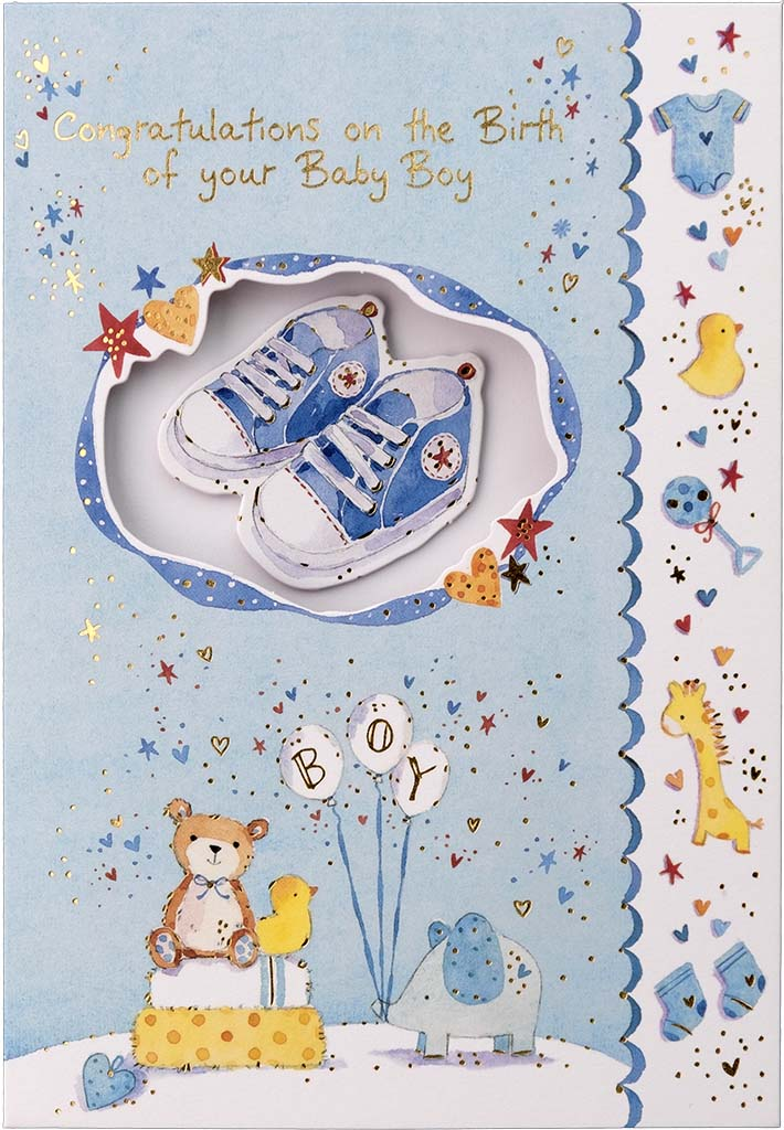 New Birth Card: Baby Boy: S160