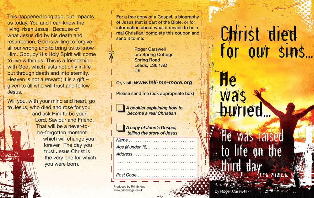 Christ died for our sins tract day one publications christ died for our sins tract fandeluxe Image collections
