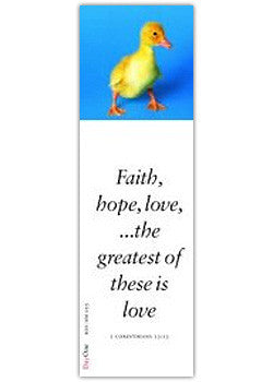 Faith, hope, love... the greatest of these is love