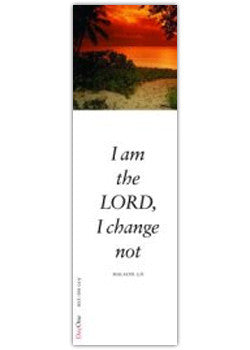 I am the LORD, I change not