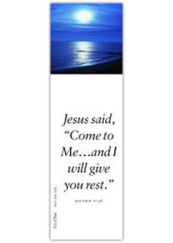 Jesus said: Come to me... and I will give you rest