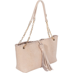 Sam Leather Convertible Shoulder Bag - New Ivory