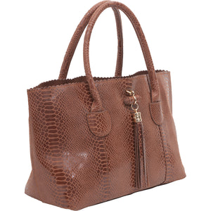 Iguana Wast/West tote - Chocolate
