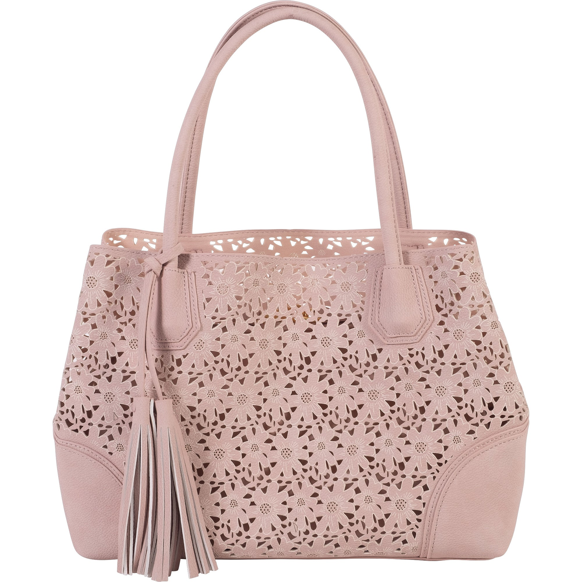 Daisy Satchel with removable inside pouch - Blush color